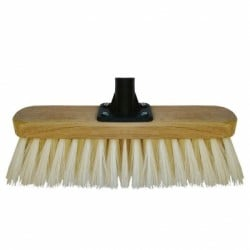 Marksman Broom Head Soft PVC Cream 12 inch 24012C