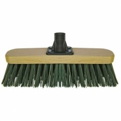 Marksman Stiff PVC Green Garden Broom Head 12 inch 24006C