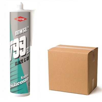 Dow Corning Dowsil 799 Plastic Glass Polycarbonate Silicone Sealant Box 12