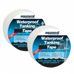 Aquaseal Wet Room Waterproof Tanking Corner Tape 10m AQWRSTAPE10
