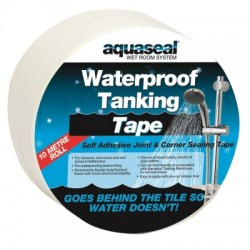 Aquaseal Wet Room Waterproof Tanking Corner Tape 5m AQWRSTAPE5