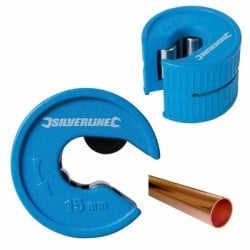 Silverline Plumbers Auto 15mm Copper Tube Pipe Cutter 245067