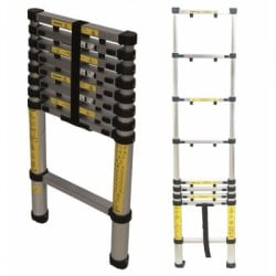Silverline Telescopic Ladder 2.6m 452123 Loft Etc