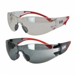 Scan Flexi Safety Glasses Clear Smoked Twin Pack SCAPPEFSTWIN