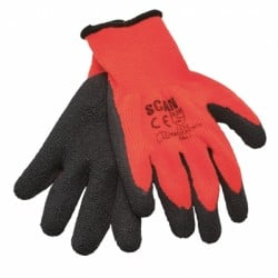 Scan Hi-Vis Latex Thermal Work Gloves 5 Pairs SCAGLOKSTH5