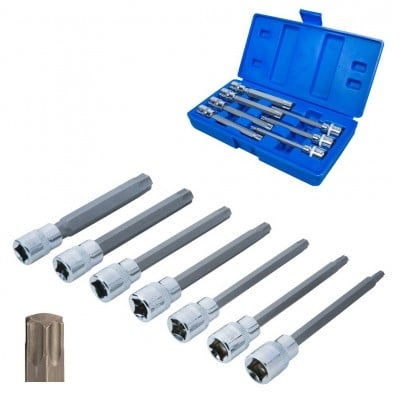 "Blue Spot Tools 3/8"" Torx Extra Long Socket Bit Set 01514"