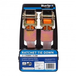 Blue Spot Ratchet Straps Tie Down Twin Pack 45407