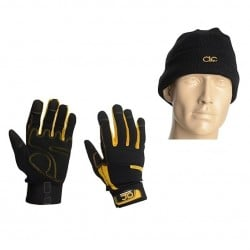 CLC Construction Work Gloves and Beanie Hat PK3015