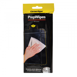 CornerTape Silicone Sealant Preparation Alcohol Wipes Pack 20