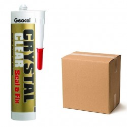 Geocel Crystal Clear Seal & Fix sealant and Adhesive Box of 12