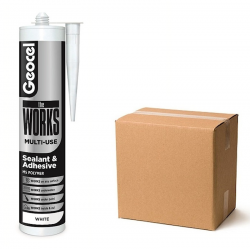 Geocel The Works Coloured Wet or Dry Sealant Adhesive Box 6