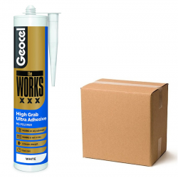 Geocel The Works XXX Extra Grab Strong Fast Adhesive White Box of 6