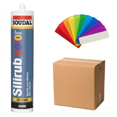 Soudal Color Ral Colour Coloured Silicone Sealant - Box of 15